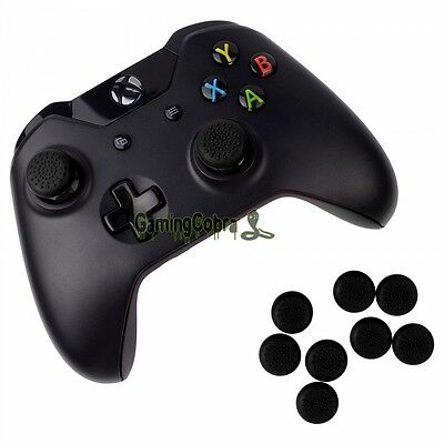 10X Silicone Rubber Black Joystick Thumb Stick Grip Cap for Xbox One Controller