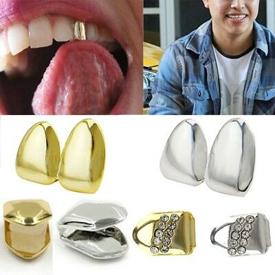Novelty Comfort Gold Plated Small Single Tooth Cap Grillz Hip Hop Teeth Grill