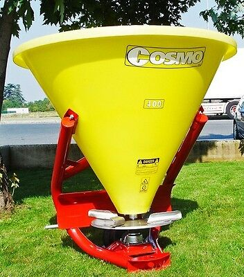 Plastic Tractor Fertilizer Spreader by Cosmo, 2 Sizes, 3 Point, PTO