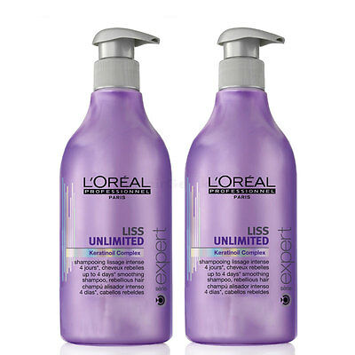 Loreal Lisse Illimitée Force 2 Shampooing 2x 500 ml = 1 L