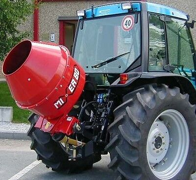 3 Point Cement Mixer, 12 Cubic Feet, PTO, Tractor