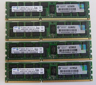 32GB (4x8GB) 500205 500662 PC3-10600R ECC DDR3-1333MHz HP DELL IBM Apple