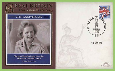 G.B. 2008 25th Anniversary of Mrs Thatcher visit to Falklandscommemorative Cover