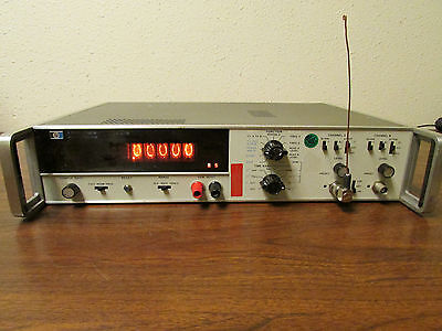 HP Agilent 5327B Timer Counter DVM Opts 003 004 010 Nixie Working