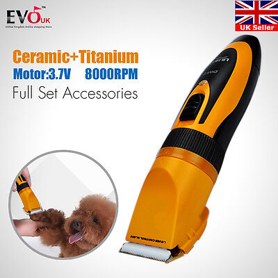 Pet Cat Dog Fur Hair Grooming Clippers Professional Cordless Electric Trimmer