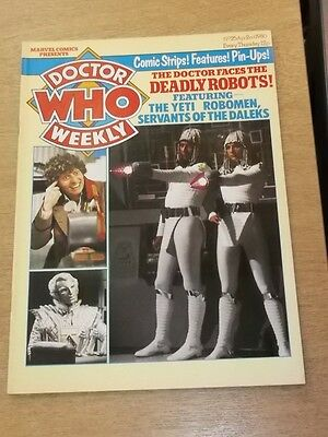 Doctor Who #25 1980 Apr 2 British Weekly Monthly Magazine Dr Who Dalek Cybermen