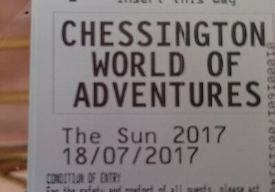 Chessington World of Adventures Tickets - Tuesday 18th July 18/07/2017 18.07.17