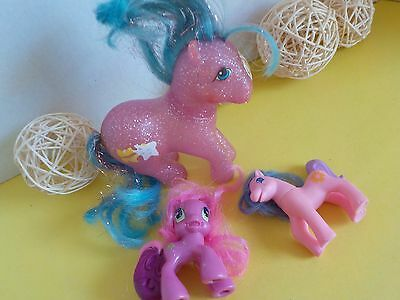 Vintage My Little Pony Glowing See Through and Modern Ponies (small)