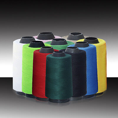 10 Colour 3000 Yards Polyester Reel Spools Sewing Yarn Pure All Purpose Thread