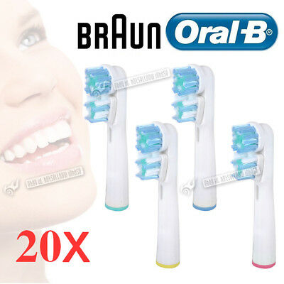 20Pcs Replacement Toothbrush Dual Heads Refill Clean Teeth