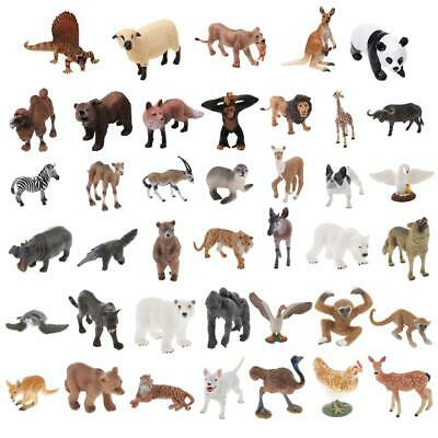 Assorted Plastic Simulation Wild/Zoo/Farm Animal Model Figurine Educational Toy