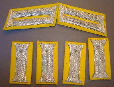Wwii German Signals Collar Tabs For Dress Uniform Wth Cuff Tabs