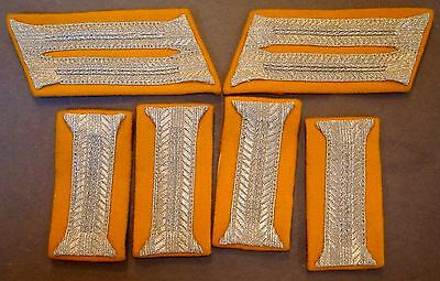 Wwii German Calvary Collar Tabs For Dress Uniform Wth Cuff Tabs