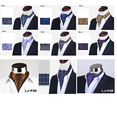 Mens Neck Ties Scarf/Cravat Suit All Occasion Paisley London Pattern New Product