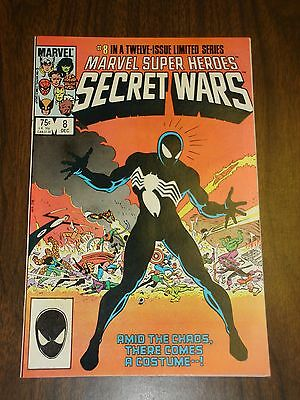 Marvel Super Heroes Secret Wars #8 Near Mint 9.4 Black Costume First Venom  X