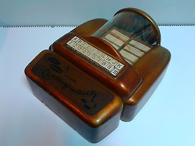Vintage Seeburg 3w1 Jukebox steering panel with songs 1950-60's German version