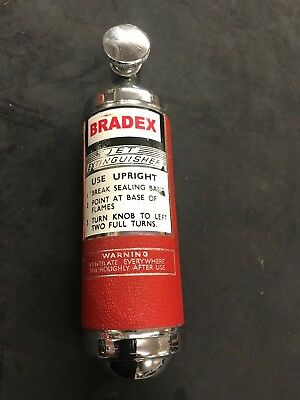 Classic car Bradex Jet fire extinguisher