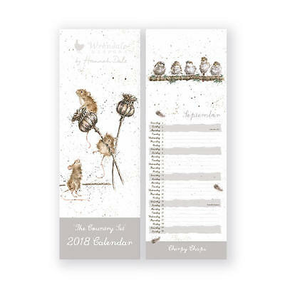 Wrendale Designs 2018 Slim Calendar - Illustrations by Hannah Dale