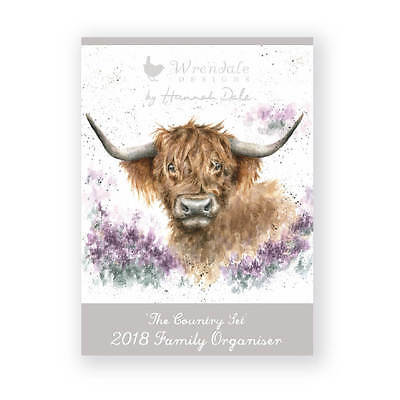 Wrendale Designs 2018 Family Organiser - Illustrated Hannah Dale Family Planner