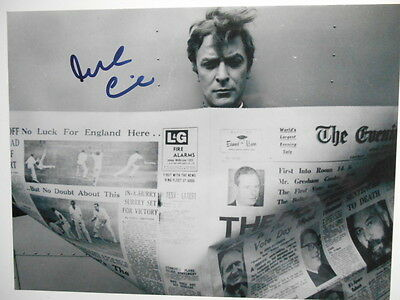 MICHAEL CAINE personally signed 14x11