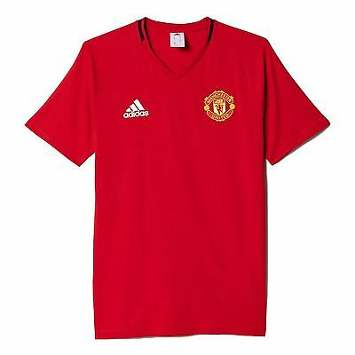 adidas MANCHESTER UNITED T SHIRT SIZE XS M RED ANTHEM CREW NECK SUMMER TEE BNWT