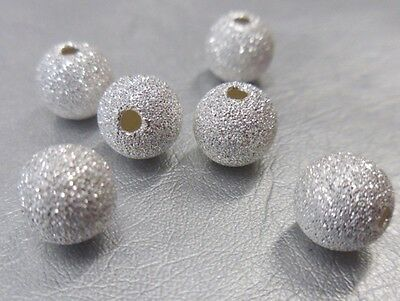 🎀 3 FOR 2 🎀 100 Silver Round Stardust 6mm Spacer Beads For Jewellery Making