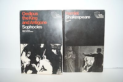 HAMLET SHAKESPEARE & Oedipus The King and Antigone Sophocles Book Set