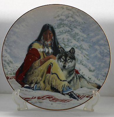 FOUR HAMILTON COLLECTOR PLATES PRINCESS OF THE PLAINS SERIES by David Wright