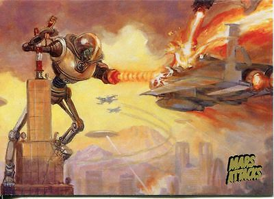 Mars Attacks Invasion Gold Stamped Parallel Base Card #19