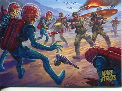 Mars Attacks Invasion Gold Stamped Parallel Base Card #44