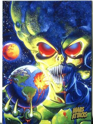 Mars Attacks Invasion Gold Stamped Parallel Base Card #79
