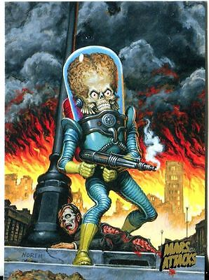 Mars Attacks Invasion Gold Stamped Parallel Base Card #89