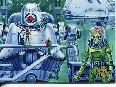 Mars Attacks Invasion Gold Stamped Parallel Base Card #52