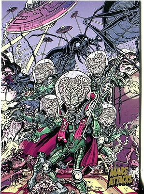 Mars Attacks Invasion Gold Stamped Parallel Base Card #75