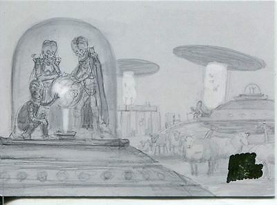 Mars Attacks Invasion Pencil Concept Art Parallel Base Card #22