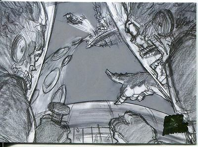 Mars Attacks Invasion Pencil Concept Art Parallel Base Card #26