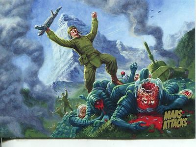 Mars Attacks Invasion Gold Stamped Parallel Base Card #45