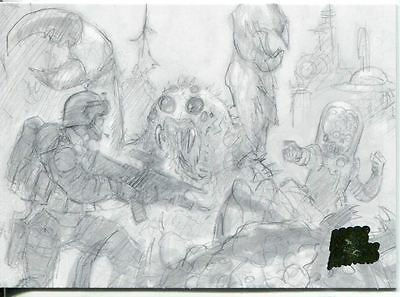 Mars Attacks Invasion Pencil Concept Art Parallel Base Card #46