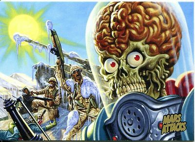 Mars Attacks Invasion Gold Stamped Parallel Base Card #15