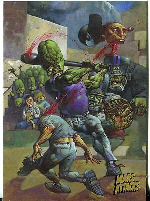 Mars Attacks Invasion Gold Stamped Parallel Base Card #78