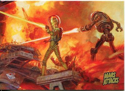 Mars Attacks Invasion Gold Stamped Parallel Base Card #21