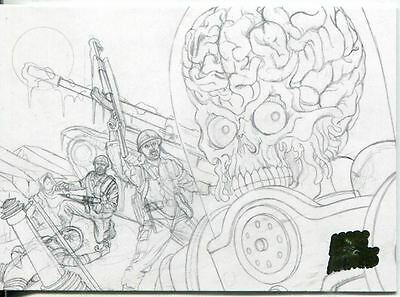 Mars Attacks Invasion Pencil Concept Art Parallel Base Card #15