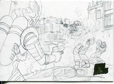 Mars Attacks Invasion Pencil Concept Art Parallel Base Card #14