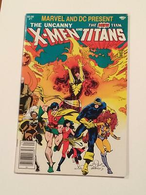 Marvel and DC Present X-men and Teen Titans #1 1980's FN/VF
