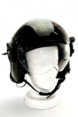 RAF RN Aircraft Pilot Flying Helmet Bone Dome Flight Gear Mk4B Medium Broad