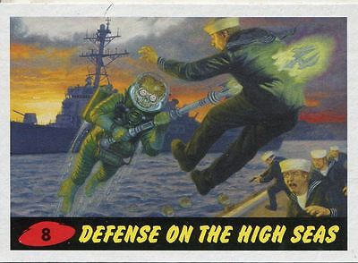 Mars Attacks Invasion Heritage Parallel Base Card #8