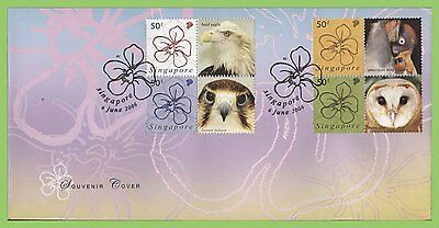 Singapore 2006 Greetings Stamps - Orchids/Birds set First Day Cover