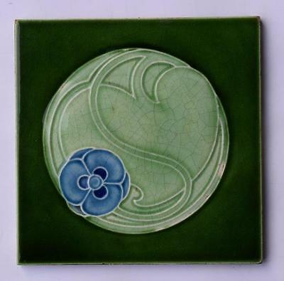 Antique Art Nouveau Tile, By Marsden c1905