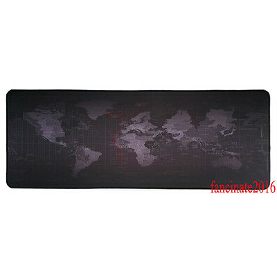 Wholesales Extended World Map desk mat Large XL Speed Gaming mouse pad black