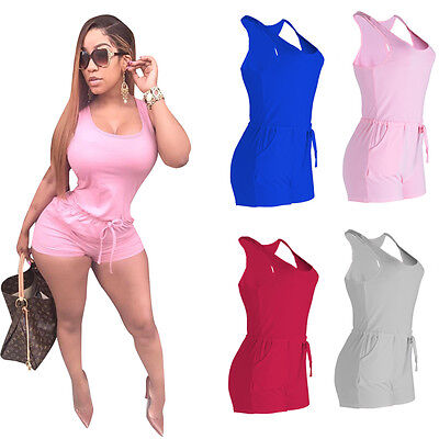 US STOCK Women Clubwear Summer Playsuit Bodycon Party Jumpsuit Romper Trousers